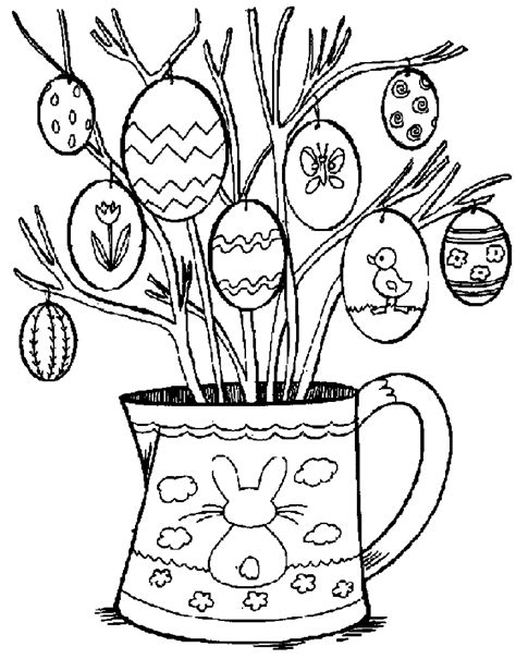 easter coloring pages for middle school pasen kleurplaten paasboom