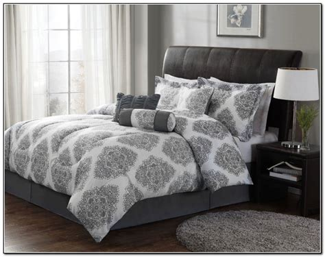 gray bedding sets comforter set elegant bedroom printed