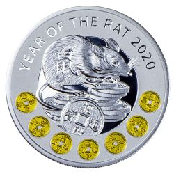 coins australia  chinese calendar year   rat silver proof coin