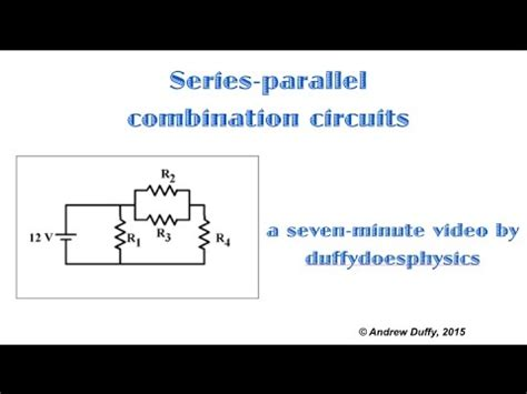 resistors in series parallel and combination circuits series parallel combination circuits