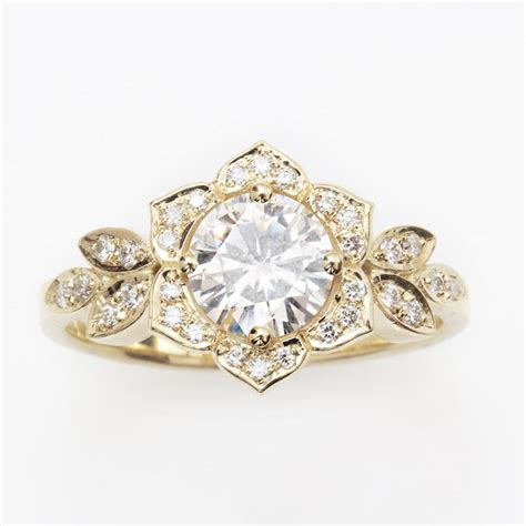 unique engagement ring vintage ring 14k by