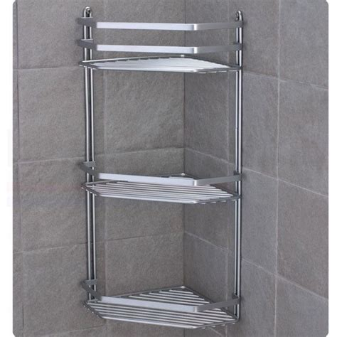 Chrome Satina Hanging Rectangle Corner Shower Caddy Bathroom Shower Racks