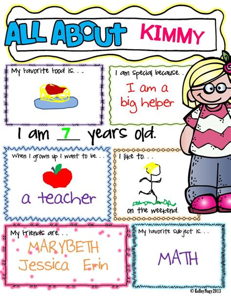 poster design worksheet all about me all about me boys and girls