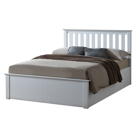White Ottoman King Size Bed 5 0 Quot King Size Sutton White Ottoman Bed Frame Sussex Beds