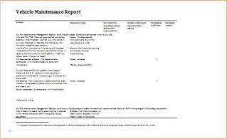Vehicle Service Report Template vehicle damage incident inspection and maintenance
