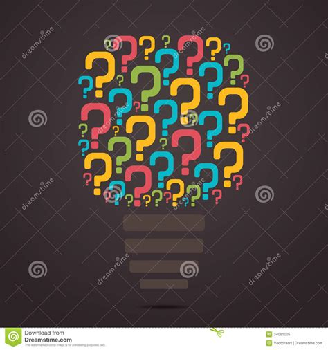 design questions colorful question mark bulb stock vector image 34061005