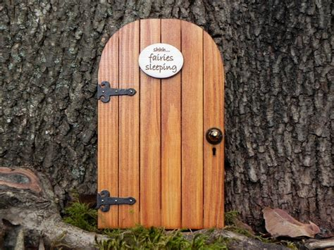 fairy door fairy door fairy garden miniature wood shhh fairies sleeping