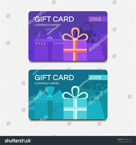gift card image template gift card template discount coupon vector stock vector