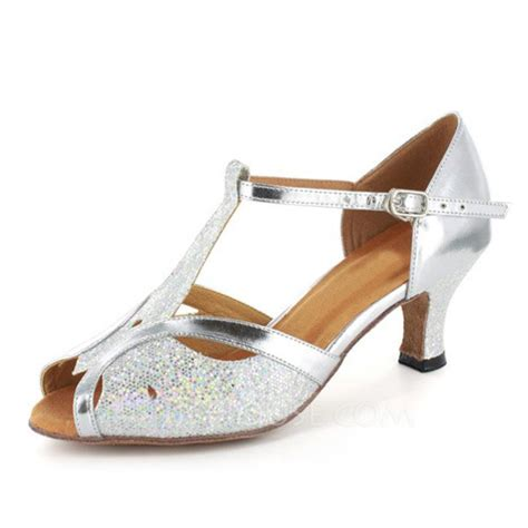 jj house shoes women s sparkling glitter patent leather heels sandals latin ballroom wedding party
