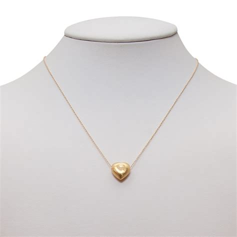 brushed small pendant gold necklace ktcollection