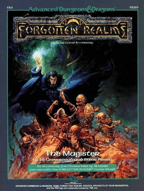 Advanced Dungeons Dragons Dragons Of by Fr4 The Magister 1e Forgotten Realms Book Cover And