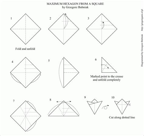 How To Make A Hexagon Out Of Paper - hexagon from a square or rectangle happy