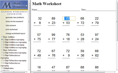 Math Worksheets Generator by Homestead Catholic Math Worksheet Generator