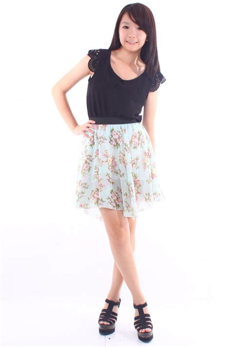 floral high waist skirt the label junkie
