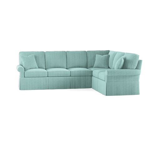 wilton skirted left arm facing sofa sectional maine cottage