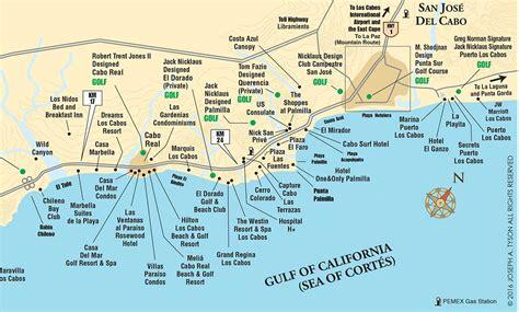 map cabo mexico los cabos corridor map july 2016 b on of mexico cabo