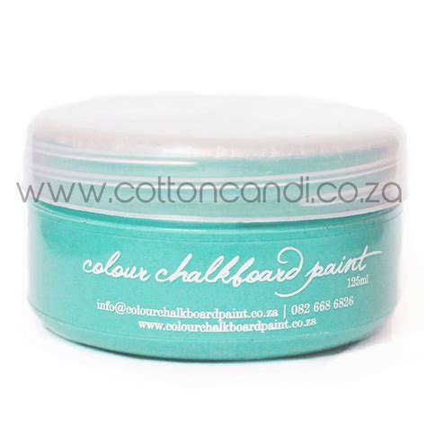 teal chalkboard paint 125ml cotton candi