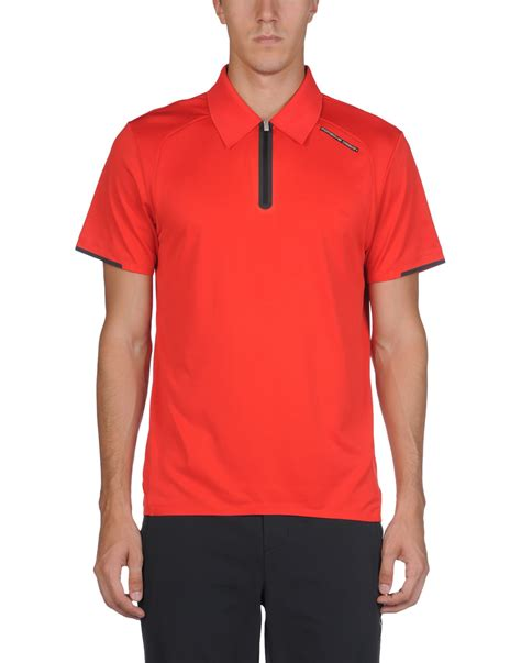 polo shirt design maker uk porsche design polo shirt in red for men lyst