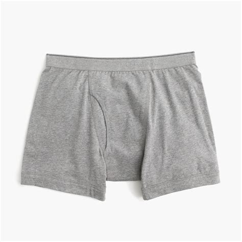 knit boxer briefs j crew knit boxer briefs in grey for lyst