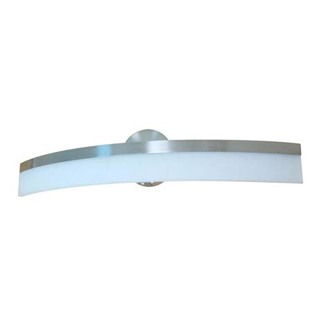 Led Lights For Bathroom Vanity Shop Style Selections Lynnpark 1 Light 26 5 In Brushed Nickel Led Vanity Light Bar At Lowes