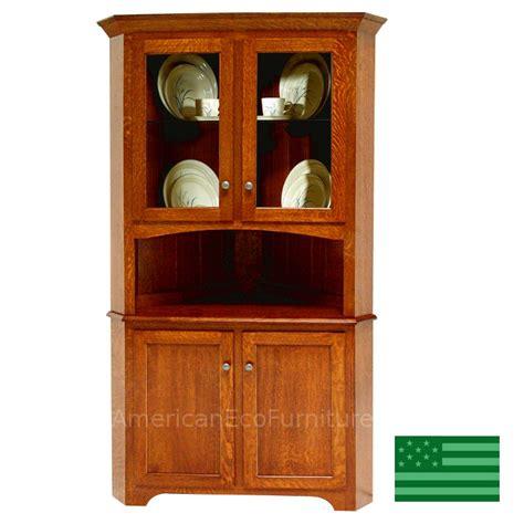 Corner Hutch Amish Solid Wood Heirloom Furniture Made In Usa Miramar
