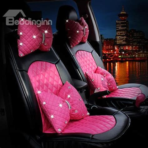 pink car interior pink stylish design with decors pu leatherette