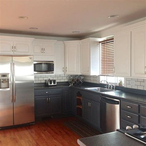 white upper cabinets grey lower upper white lower gray kitchen cabinets kitchen