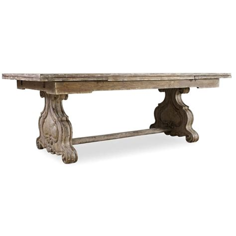 Extendable Trestle Table by Furniture Chatelet Extendable Trestle Dining Table