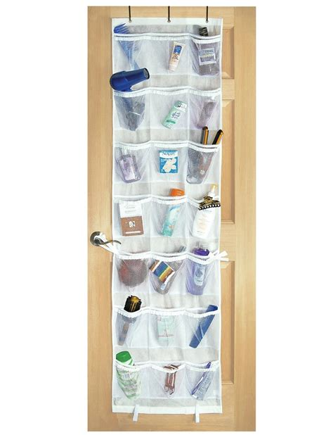over the door organizer amazon com pro mart dazz 42 pocket over the door organizer white home kitchen