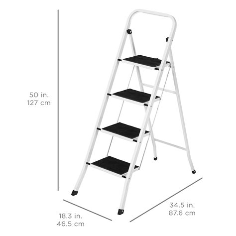 best lightweight folding stool portable folding 4 step ladder steel stool 300lb heavy