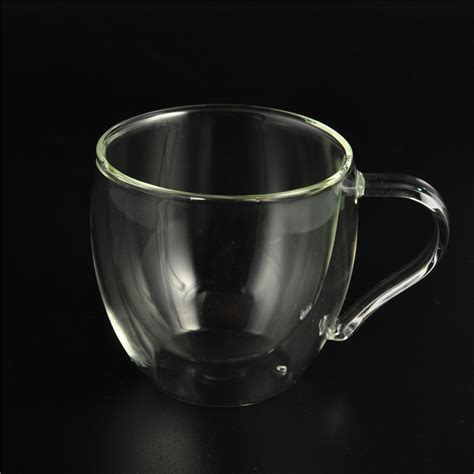 borosilicate glass heat resistant borosilicate glass wall coffee cup