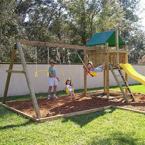 backyard swing set ideas 25 unique swing sets ideas on play sets