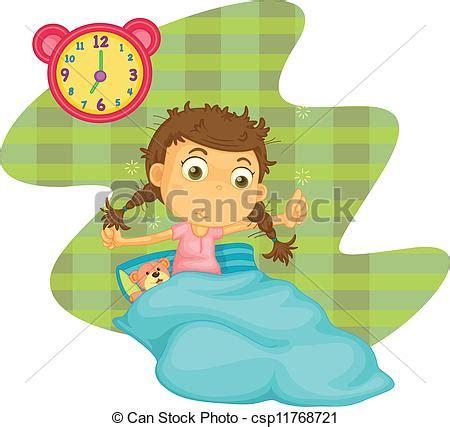 imagenes de getting up ilustraciones de vectores de ni 241 a despertar ilustraci 243 n