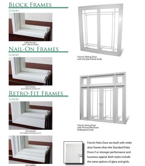 Patio Door Frames Sliding Patio Doors