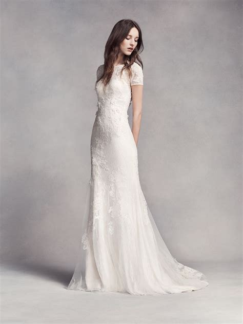 A Vera Wang Rainbow Of Dresses Part 1 by High Neckline Wedding Gown White By Vera Wang