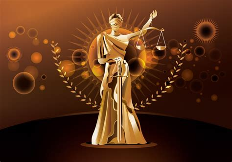 statue  justice  brown background