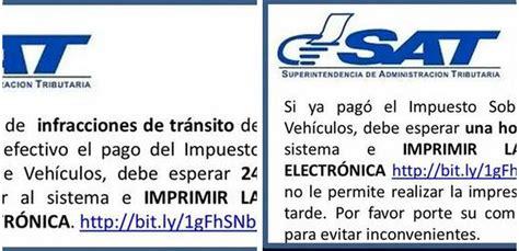 tabla de impuestos de cisrculacion 2016 sat de guatemala sat impuesto circulacion de vehiculos reportan fallas en