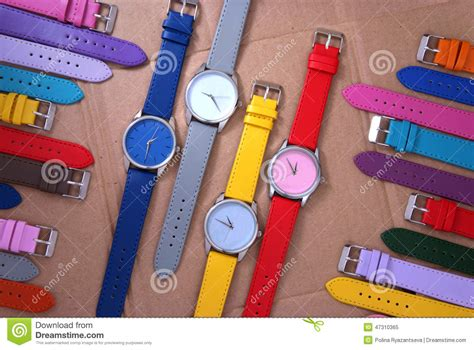 Colorful Set colorful set of plastic watches royalty free stock photo cartoondealer 26869173