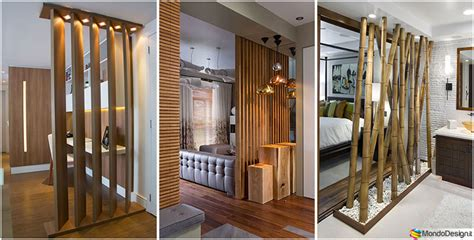 pareti in legno per interni 25 idee per pareti divisorie in legno dal design