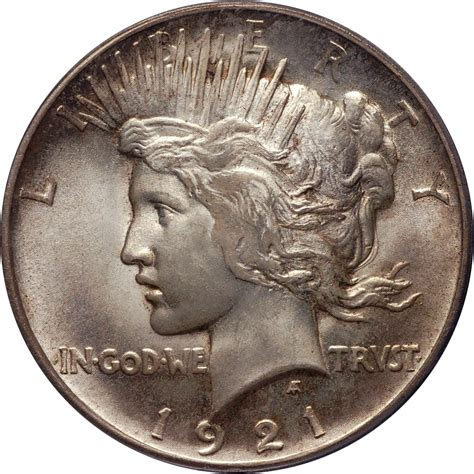 value of silver dollars 1921 1921 peace dollar silver value