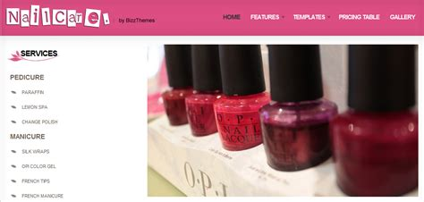 wordpress themes free nails nail salon wordpress theme full booking system