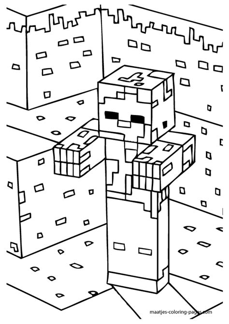 minecraft coloring pages zombie minecraft zombies coloring page