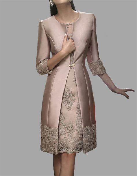braut mantel knee length mother of the bride suit outfit embroidery