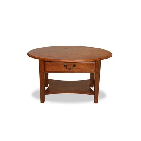 Leick Furniture Oval Medium Oak Finish Coffee Table Ebay Oval Shaped Coffee Table