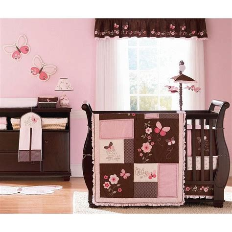 Butterfly Crib Bedding Set by Check Out The S Butterfly Flowers Four Crib