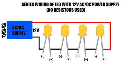 resistor with led in series led series wiring