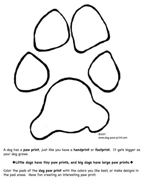coloring pictures of dog paws paw print coloring page images