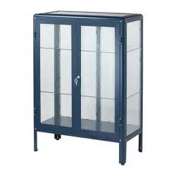 fabrik 214 r glass door cabinet blue ikea