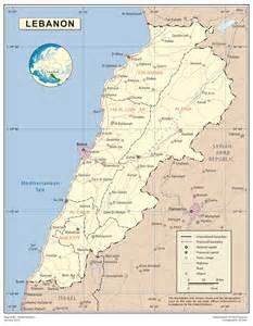 large detailed map of lebanon lebanon large detailed map