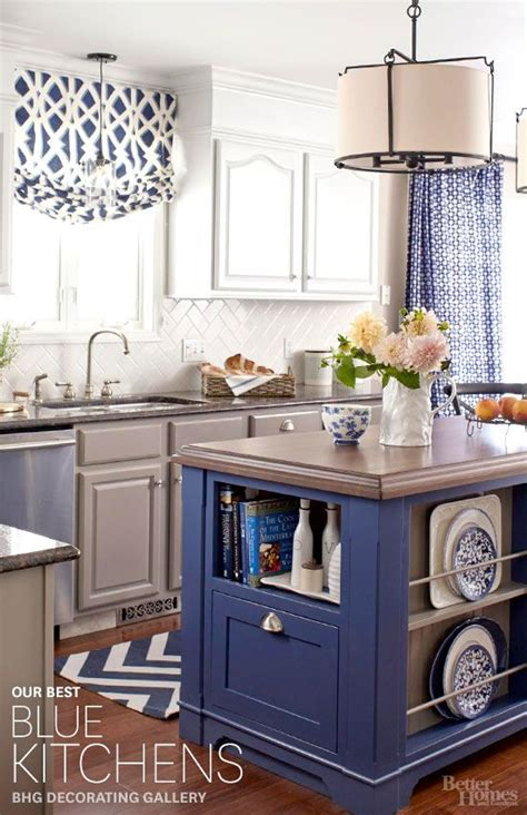 blue kitchen decorating ideas the best inspiration for blue kitchens from better homes
